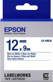 Epson LK-4WLN labelling tape 12mm, blue/white (C53S654022)