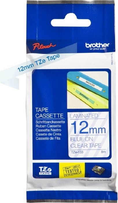 Brother TZ-133/TZe-133 (12mm, blue on colourless)