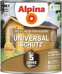 Alpina Farben Universal-Schutz Holz-Lasur außen Holzschutzmittel eiche hell, 4l