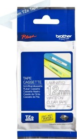 Brother TZe-135 labelling tape 12mm, white/transparent (TZE135)