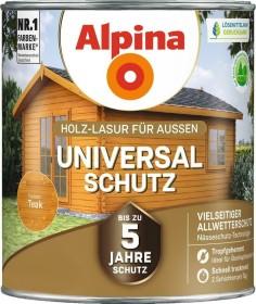 Alpina Farben Universal-Schutz Holz-Lasur außen Holzschutzmittel teak, 4l