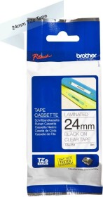 Brother TZe-151 label-making tape 24mm, black/transparent (TZE151)