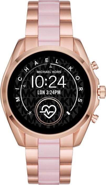Michael Kors Access Bradshaw 2 mit Gliederarmband rosegold/pink (MKT5090) -- via Amazon Partnerprogramm