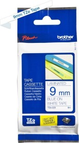 Brother TZe-223 label-making tape 9mm, blue/white (TZE223)