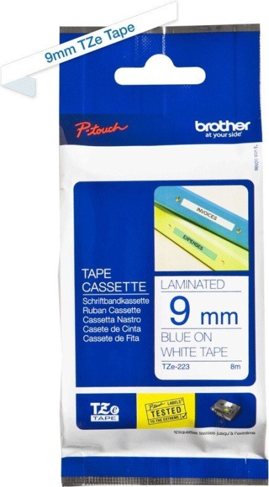 Brother TZ-223/TZe-223 9mm, blau/weiß -- via Amazon Partnerprogramm