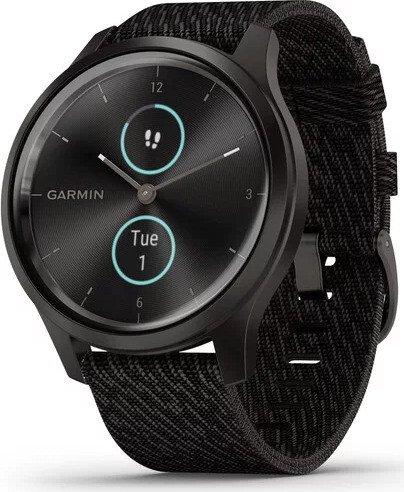 Garmin vivomove Style Aktivitäts-Tracker black pepper woven/graphite (010-02240-03)