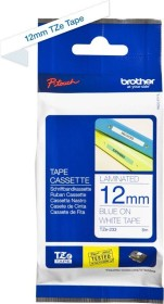 Brother TZe-233 12mm, blue/white (TZE233)
