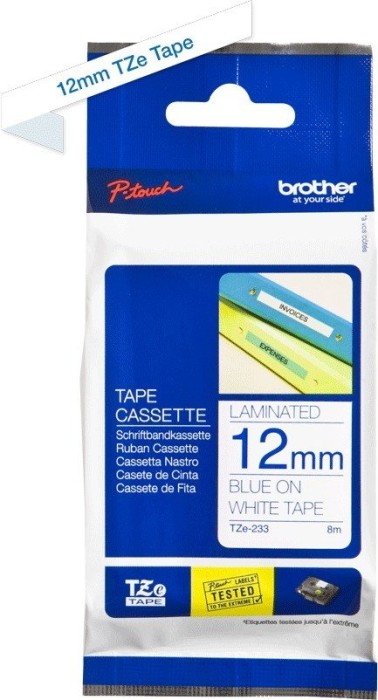 Brother TZ-233/TZe-233 12mm blau/weiß -- via Amazon Partnerprogramm