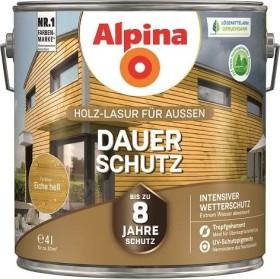 Alpina Farben Dauer-Schutz Holz-Lasur außen Holzschutzmittel eiche hell, 4l