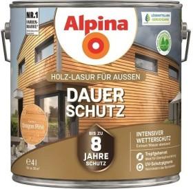 Alpina Farben Dauer-Schutz Holz-Lasur außen Holzschutzmittel oregon pine, 4l