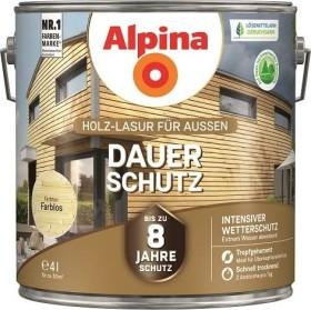 Alpina Farben Dauer-Schutz Holz-Lasur außen Holzschutzmittel farblos, 4l