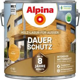 Alpina Farben Dauer-Schutz Holz-Lasur außen Holzschutzmittel kiefer, 4l