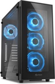 Sharkoon TG5, Glasfenster, Lüfter LED blau