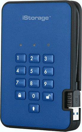 iStorage diskAshur2 256bit blue 3TB, USB-A 3.0 (IS-DA2-256-3000-BE)