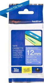 Brother TZe-535 label-making tape 12mm, white on blue (TZE535)