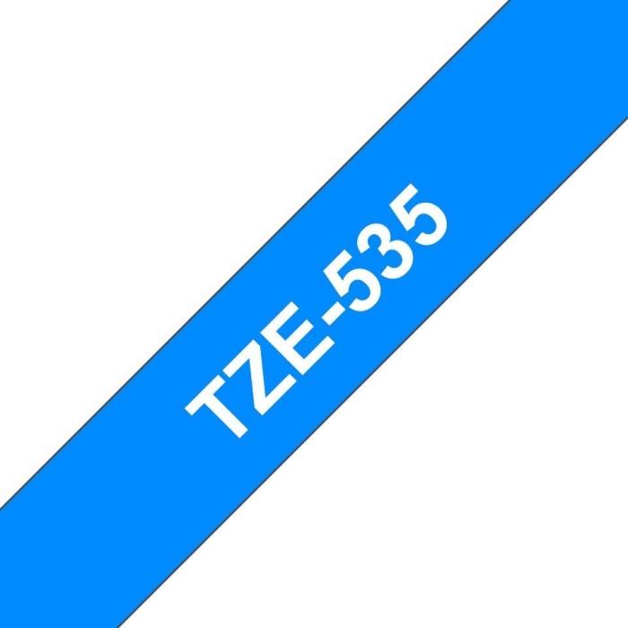 12 mm Weiss auf Blau Schriftband TZ-535 TZe-535 Beschriftungsband TZ535 f/ür Brother P-touch 12mm breit 8mtr. TZe535