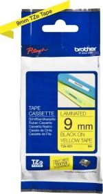 Brother TZe-621 label-making tape 9mm, black/yellow (TZE621)