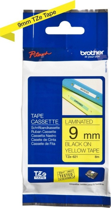 Brother TZ-621/TZe-621 9mm black/yellow -- via Amazon Partnerprogramm