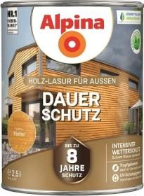 Alpina Farben Dauer-Schutz Holz-Lasur außen Holzschutzmittel kiefer, 2.5l