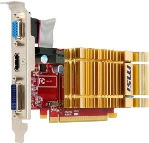 MSI R4350-MD1GH, Radeon HD 4350, 1GB DDR2, VGA, DVI, HDMI (V161-034R)