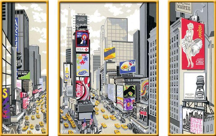 Ravensburger Malen Nach Zahlen New York Times Square