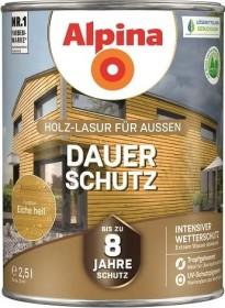 Alpina Farben Dauer-Schutz Holz-Lasur außen Holzschutzmittel eiche hell, 2.5l
