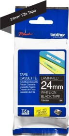 Brother TZe-355 24mm, white/black (TZE355)