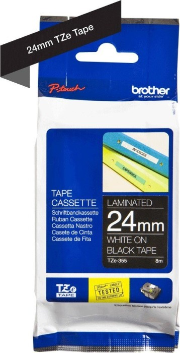 Brother TZ-355/TZe-355 24mm, weiß/schwarz -- via Amazon Partnerprogramm