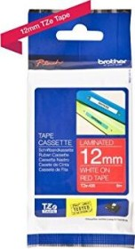 Brother TZe-435 label-making tape 12mm, white/red (TZE435)