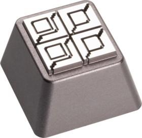 Zomoplus Aluminium Keycap Battle City Stahlwand, anthrazit/weiß (0759663285018)