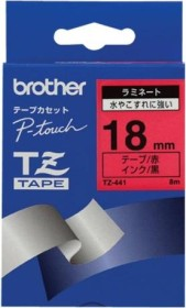 Brother TZe-441 labelling tape 18mm, black/red (TZE441)