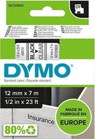 Dymo D1 Beschriftungsband 12mm, schwarz/transparent, 7m (45010 / S0720500)