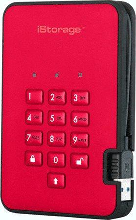 iStorage diskAshur2 256bit red 4TB, USB-A 3.0 (IS-DA2-256-4000-R)