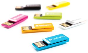 Verbatim Store 'n' Go Clip-it yellow 2GB, USB 2.0 (43904)
