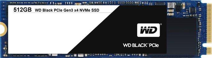 Western Digital WD Black PCIe SSD 512GB, M.2 (WDS512G1X0C)