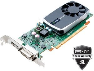 PNY Quadro 600, 1GB DDR3, DVI, DisplayPort (VCQ600-PB)