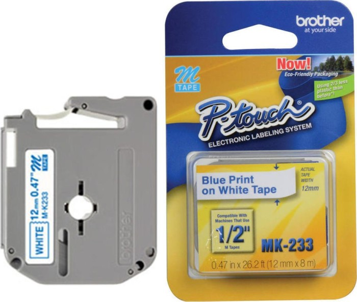 Brother MK-233BZ 12mm blue/white -- via Amazon Partnerprogramm