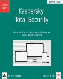Kaspersky Lab Total Security 2021, 1 User, 1 Jahr, ESD (deutsch) (Multi-Device)