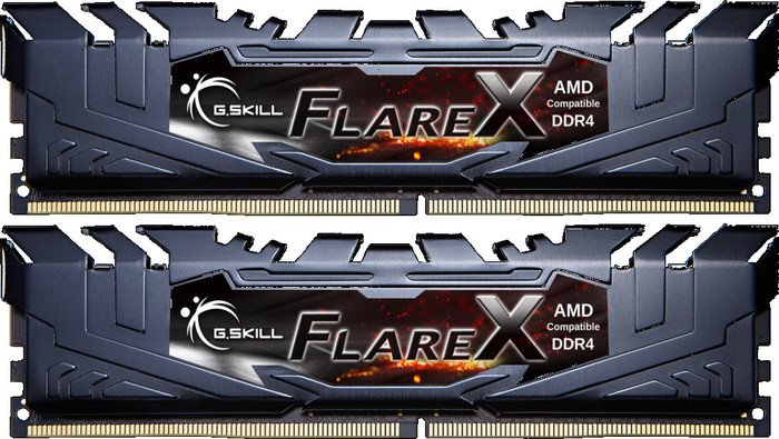 G.Skill Flare X black DIMM kit 16GB, DDR4-3200, CL14-14-14-34 (F4-3200C14D-16GFX)