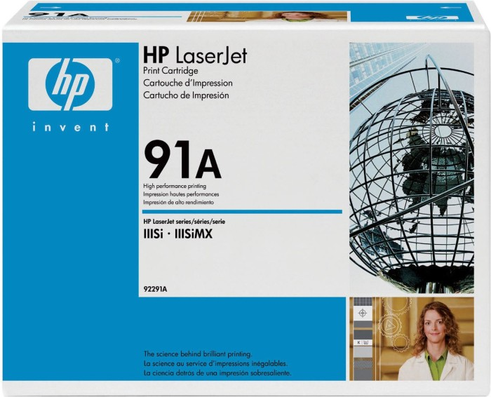 HP Toner 91A black (92291A)