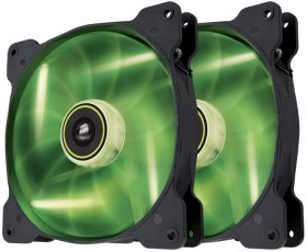 Corsair Air Series SP140 LED Green High Static Pressure, 140mm, 2er-Pack (CO-9050037-WW)