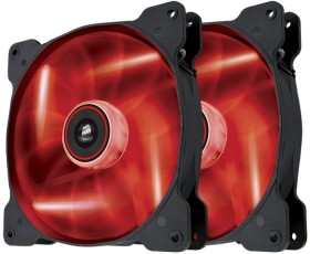 Corsair Air Series SP140 LED Red High Static Pressure, 140mm, 2er-Pack (CO-9050034-WW)