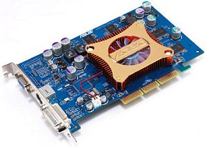 ASUS AGP-V9570/TD, GeForceFX 5700, 128MB DDR, DVI, TV-out, AGP