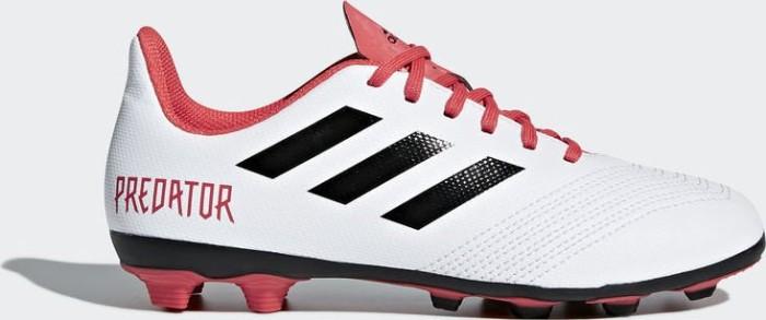 adidas Unisex-Kinder Predator 18.4 Fxg Gymnastikschuhe, Mehrfarbig (FTWR White/Core Black/Real Coral S18), 28 EU