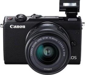 Canon EOS M100 schwarz mit Objektiv EF-M 15-45mm IS STM und 55-200mm IS STM (2209C022)