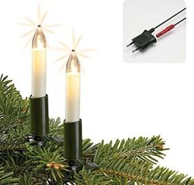 Hellum LED Lichterkette Schaftkerzen elfenbein 15x warmweiß (801545)