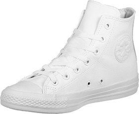 Converse Chuck Taylor All Star leather High white monochrome (1T406)