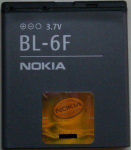 Nokia BL-6F rechargeable battery (02701J1) -- provided by bepixelung.org - see http://bepixelung.org/581 for copyright and usage