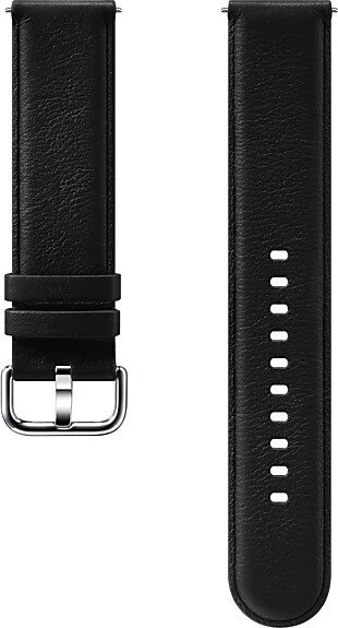 Samsung Leather Band 20mm für die Galaxy Watch Active 2 schwarz (ET-SLR82MBEGWW)