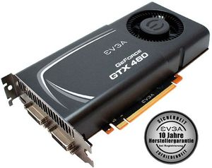 EVGA GeForce GTX 460 Superclocked EE, 1GB GDDR5, 2x DVI, Mini HDMI (01G-P3-1373)